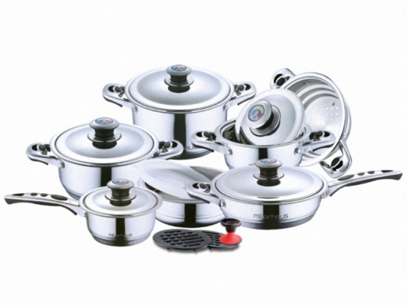 Набор посуды millerhaus mh-9001, 17 предметов
